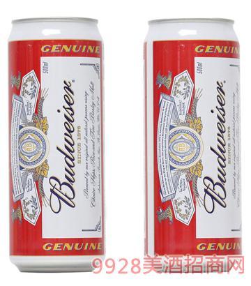 百威啤酒武汉产罐500ml