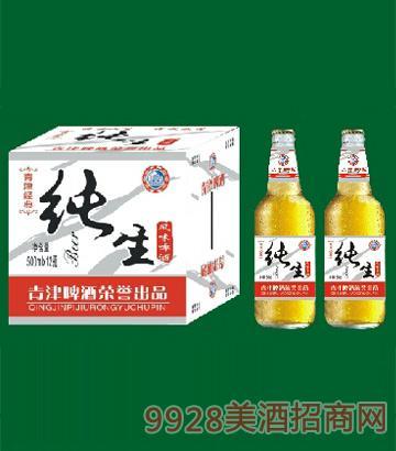 青津纯生风味啤酒500ml