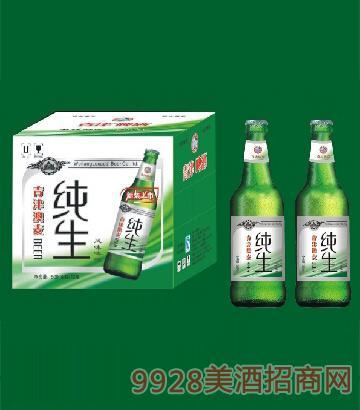 青津澳麦纯生风味啤酒500ml