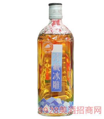 乌毡帽蓝标冻藏冰雕黄酒