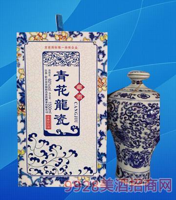 青花龙瓷酒藏酒60度1500ml