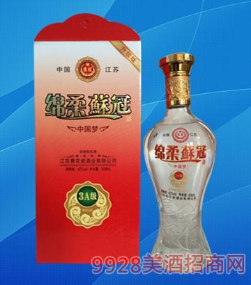 绵柔苏冠酒中国梦3-42度500ml