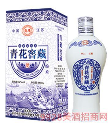 青花窖藏�d柔酒42度480ml