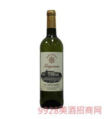 法国之光凯宴白葡萄酒12%vol750ml