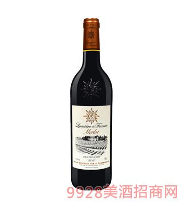 法国之光・梅洛干红葡萄酒12%vol750ml
