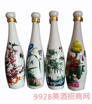 贵沣珍藏酒-梅兰竹菊礼盒套装