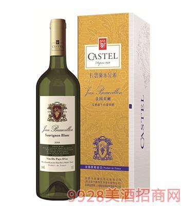 750ml法国贝阑长相思干白葡萄酒12%vol