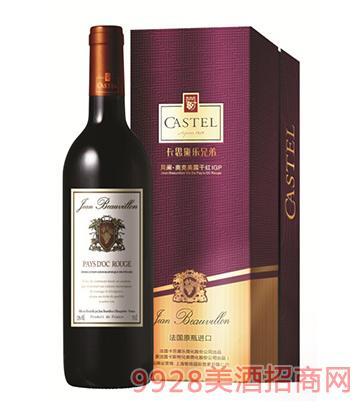 750ml法国贝阑奥克美露干红葡萄酒12%vol