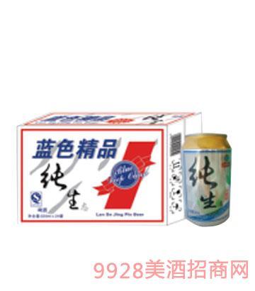 蓝色精品纯生啤酒