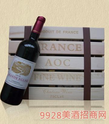法国大教堂干红葡萄酒