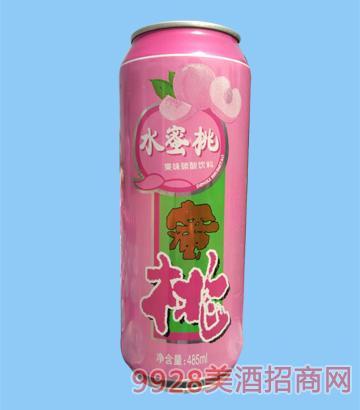 水蜜桃果味碳酸�料485ml啤酒