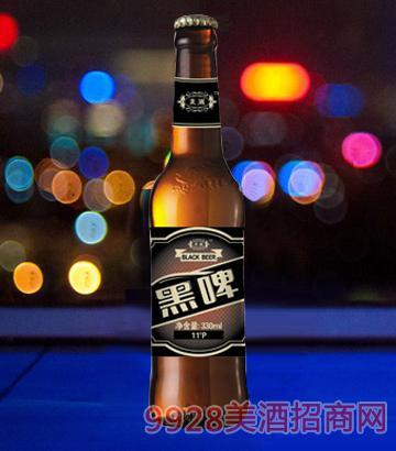 麦潮黑啤330ml瓶啤酒