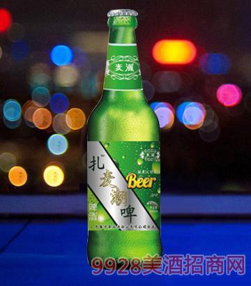 麦潮啤酒500ml绿瓶啤酒