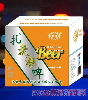 ��潮啤酒500mlx12白瓶箱啤酒