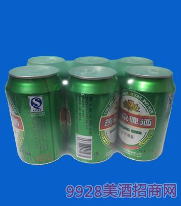 燕京啤酒罐装绿瓶