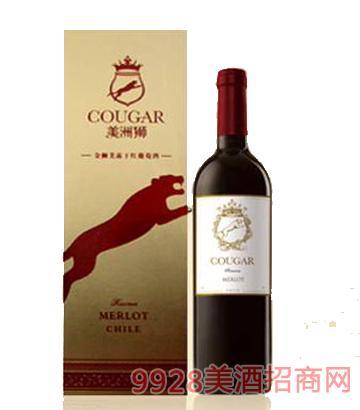 美洲狮 金狮美露干红葡萄酒