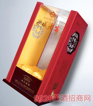 沙城老窖1989透明工艺酒盒
