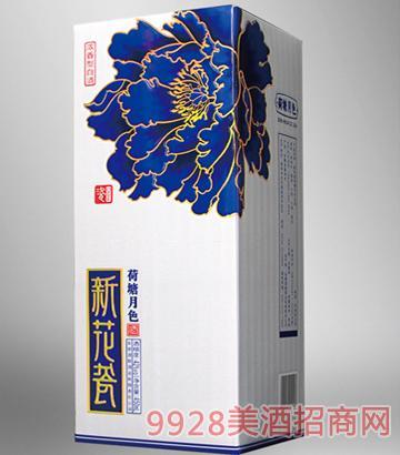 新花瓷荷塘月色普通卡盒