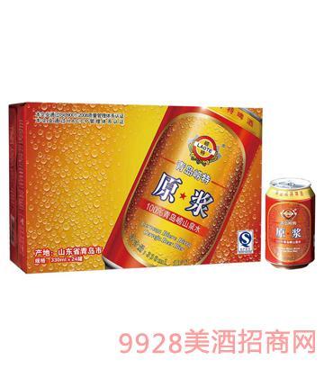 青岛崂特原浆啤酒330mlx24