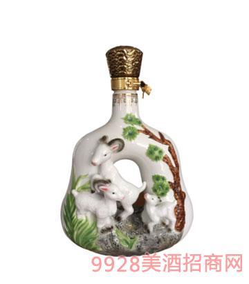 十二生肖酒瓶羊