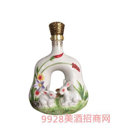 十二生肖酒瓶兔