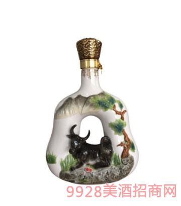 十二生肖酒瓶牛