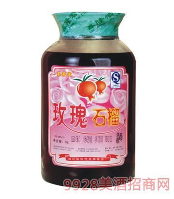 玫瑰石榴酒5L