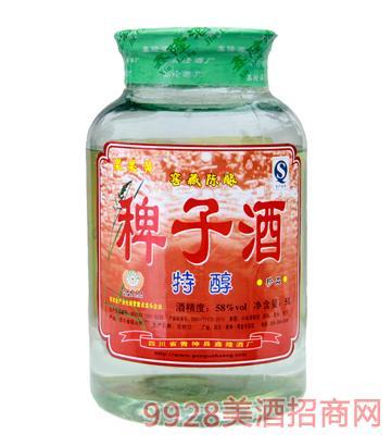 58度果果黄稗子酒5L特醇