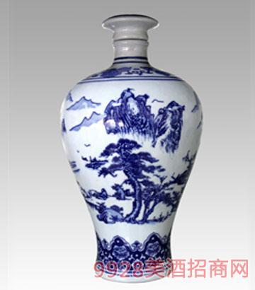 5斤青花瓷梅瓶酒