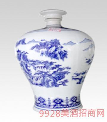 3斤青花瓷梅瓶酒