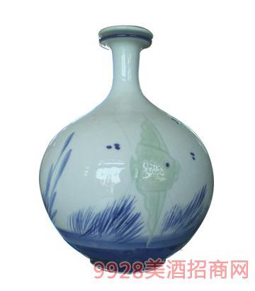 10斤手绘雕刻圆瓶酒