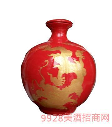10斤红色双龙戏珠酒