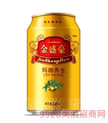10°P金盛豪玛咖养生啤酒330ml