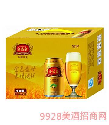 10°P金盛豪玛咖养生啤酒330mlx12