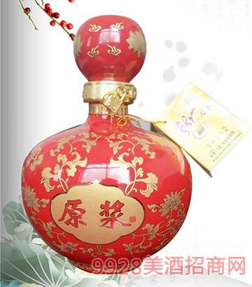 卧龙泉酒浓香五斤红坛42度