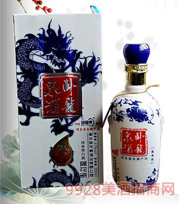 卧龙泉蓝花瓷41度500ml浓香型白酒