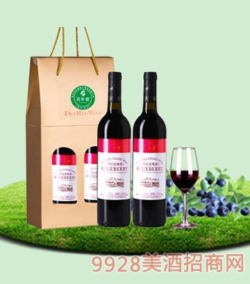 750mlx2百年誉·干红蓝莓酒11度纸盒装