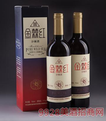 11度金棘红沙棘酒750ml