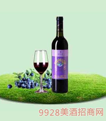 750ml百年誉·甜型蓝莓酒7度