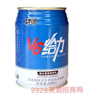 植奥V6给力维生素运动饮料248mlx12