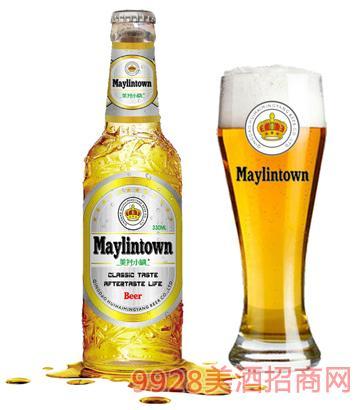 美林小镇啤酒330ml白瓶