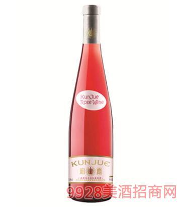 坤爵庄园美乐桃红葡萄酒