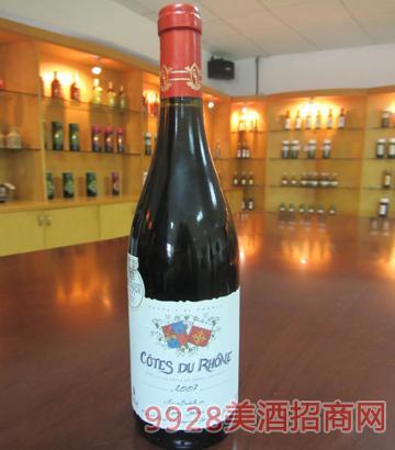 罗纳红谷红酒