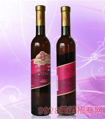 半甜型荔枝红酒13度