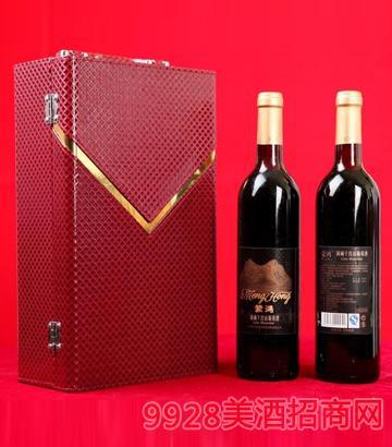 礼盒装蒙鸿洞藏干红山葡萄酒