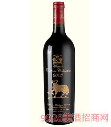 卡布雷登庄园-金羊2008干红葡萄酒