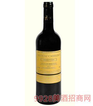 卡布雷登精选美乐2013干红葡萄酒