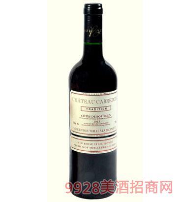 卡布雷登精选老树根2013干红葡萄酒