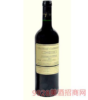 卡布雷登庄园特酿美乐2014干红葡萄酒