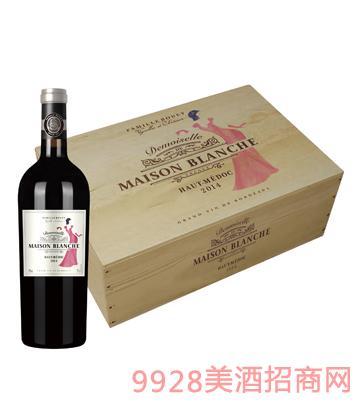 JK017白宫少女六支装木盒葡萄酒